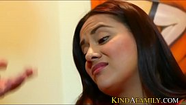 KindAFamily Latina stepdaughter gets...
