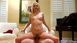 MILF Trip - Horny blonde MILF takes a pounding from fat cock