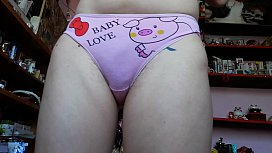 Extreme hairy pussy teen private panty show on webcam