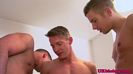 British gay jock threeway...