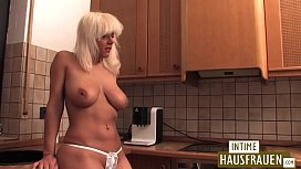 Naked housewife in the...