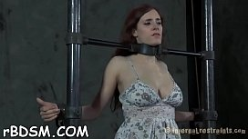 Slave receives lusty ass whipping previous to pussy t.