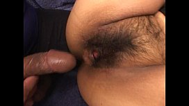 Asian with hairy pussy fucked then facial