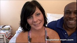 Cute brunette milf w...