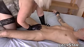 Hot GILF pounded up her tight ass hole by young man cock