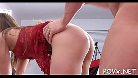 Hairy and tight pussy receives a thick ramrod deep inside
