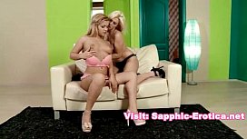 Two beautiful blondes in...