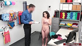 Brunette thief fucked by LP officer