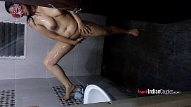 Reenu Bhabhi In Shower Striptease Exposing Nice Tits and Amazing Pussy