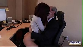 I Am A Young Secretary Seducing My Boss At Work Office-480p
