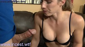 Son fills mom mouth...