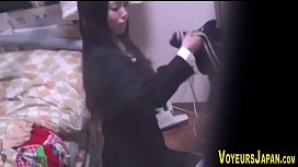 Cute asian watched toying
