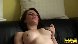 Squirting skank licking her...