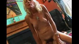 Mature hairy slut doing...