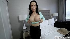 Busty mom Crystal Rush is getting horny again and wants some dick inside her hungry pussy.Good thing stepson is ready to slide his cock inside her.