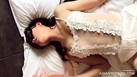(HOMEMADE) Sex with beautiful Asian girl in mask