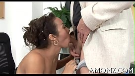 Hot mama is fingered and screwed