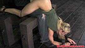 Useless blonde submissive