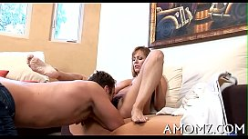 Slutty mature is crazy about cock