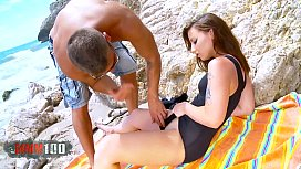 Amazing young brunette gets...