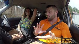 Fake Driving School Ava Austen Gets Cum-pensation from Max Deed's Cock