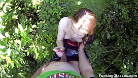 Fucking Glasses - Outdoor fuck Lota in spycam glasses