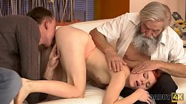 DADDY4K Dirty Boy Fingers GF For Cheating On Him With Horny Daddy