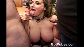 Busty girl gets fucked...