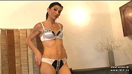 Skinny amateur french milf...