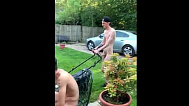 A Dozen Guys Showing Off at Home