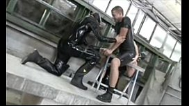 Extreme latex suit and...