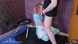 Submissive PAWG gets gagged...
