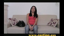 Casting - Latina hottie sucks...