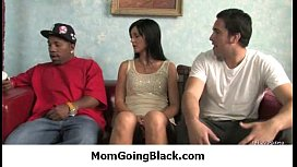 Milf opens her legs for a black cock 14