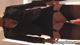 Milf in stockings toys...