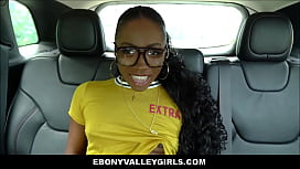 Cute Nerdy Black Teen Anne Amari Has Sex With Her Uber Driver After Seducing Him In Back Seat