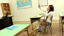 Seducing my mature teacher in detention (short version)