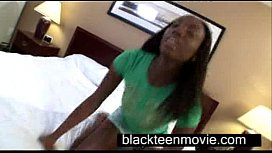 Cute ebony teen with...