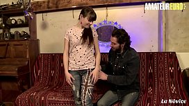 AMATEUR EURO - Squirting French Teen Luna Rival Loves Stallion'_s Dick