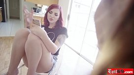 Redhead Amber Ivy interracial anal date she found on an app