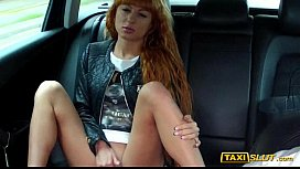 Redhead Liza flashes and...