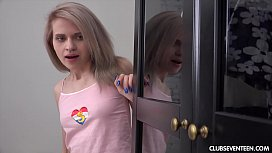 Gorgeous blonde teen gets...