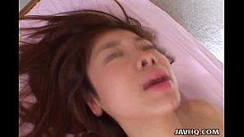 Cute japanese teen enjoys...