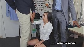 Asian double penetrated by...