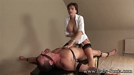 Lady Sonia Strapped Down...