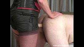 Strapon slave training by...