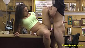 Sexy Latina Babe Gets Her Pussy Drilled