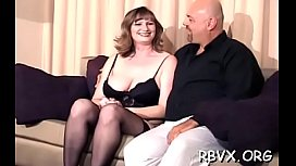 Mature bitch gets titillated whilst being strapped tight