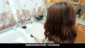 DadCrush - Small Tits Stepdaughter Gets A Facial From Big Dick Stepdad