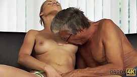 DADDY4K. Old and young sex in the villa after swimming in the pool